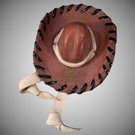 Vintage Idaho Memorabilia – Miniature Leather Hat Boise Souvenir