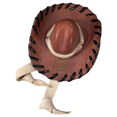 Vintage Idaho Memorabilia – Miniature Leather Hat Boise Souvenir