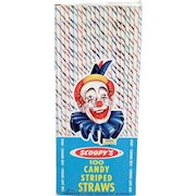 Vintage Paper Straws – Old Candy Striped Scoopy Straws 1963