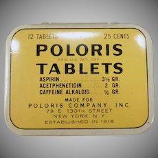 Vintage Medicine Tin – Old Poloris Aspirin Tin