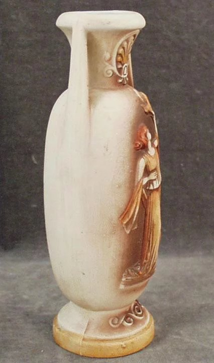 Vintage Grecian Style Bisque Vase Small Old Vase With Classic