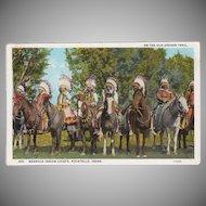Vintage Postcard -  Old Oregon Trail Souvenir Postcard with Bannock Indians