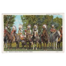 Vintage Postcard -  Old Oregon Trail Souvenir Postcard with Bannock Indians