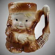 Vintage Davy Crockett Childs Cup -Old Ceramic Mug by Brush Pottery