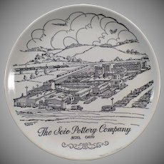 Vintage Souvenir Plate – View of Old Scio Pottery Co. 1961