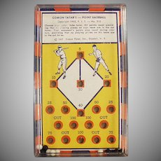 Vintage Skill Game - #310 Comon Tatar's Point Baseball Dexterity Game