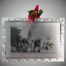 Vintage Aluminum Christmas Postcard – 1904 Postcard from Irving Park, Chicago