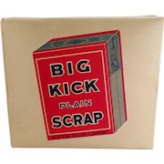Vintage Tobacco Box - Old Big Kick Tobacco Cardboard Display Box