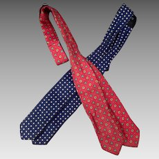 Vintage Arrow Bow Ties - 2 - Patterned Self Tie - Size 13-18