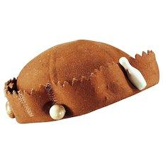Vintage Felt Beanie - Old Felt Skull Cap for Charms and Pinbacks