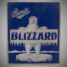 Vintage Candy Bar Box – Old Bunte Blizzard Candy Box with Polar Bear