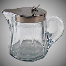 Vintage Heisey Glassware - Sanitary Syrup Pitcher - #353 5oz Pitcher Metal Lid