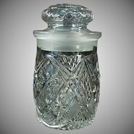 Vintage Crushed Fruit Jar - Old Soda Fountain Back-Bar Jar for Sundae Toppings