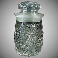 Vintage Crushed Fruit Jar - Old Soda Fountain Back-Bar Jar for Sundae Toppings