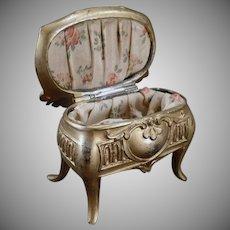 Vintage Jewelry Box - Old Casket Style Dresser Box - Des Moines, Iowa Souvenir