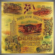 Vintage Souvenir Pillow Cover - Pikes Peak-Colorado Springs