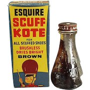 Vintage Shoe Polish with Circus Theme on the Original Box - Old Esquire Scuff Kote