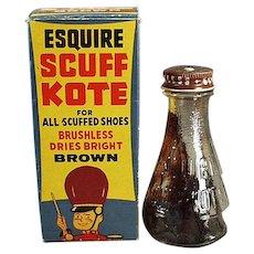 Vintage Esquire Scuff Kote Shoe Polish with Circus Theme - Original Box