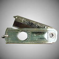 Vintage Valet Auto Strop Watch Fob - Old Utility Knife Cigar Cutter - Autostrop Safety Razor Co.