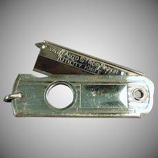 Vintage Valet Auto Strop Watch Fob - Old Utility Knife Cigar Cutter - Autostrop Safety Razor Co.