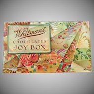 Vintage Candy Box - Old Whitman's Chocolates - The Joy Box