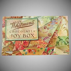 Vintage Candy Box - Old Whitman's Chocolates - The Joy Box