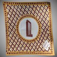 Large Vintage Cloth Napkin - Old San Francisco Hilton Tower Advertising