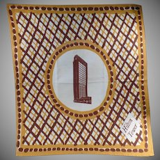 Large Vintage Cloth Napkin - Old San Francisco Hilton Tower Advertising