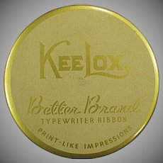 Vintage Ribbon Tin - Old KeeLox Typewriter Ribbon Tin - Better Brands