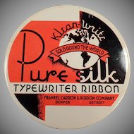 Vintage Ribbon Tin - Old Typewriter Ribbon Tin - Klean-Write Pure Silk