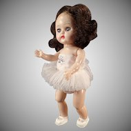 Vintage Cosmopolitan Ginger Doll Wearing a Ballerina Tutu - Bent Knee Walker