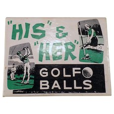 Vintage Joke Box – His and Her Golf Balls – Fun Gag Gift for the Golfer