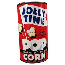 Vintage Popcorn Tin - Old Jolly Time Popcorn Tin - Unopened