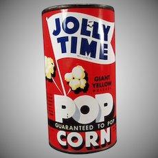 Vintage Popcorn Tin - Old Jolly Time Popcorn Tin - Unopened