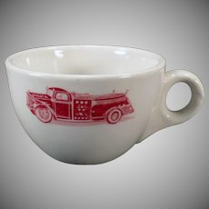 Vintage Restaurant China Coffee Cup – Old Arcata Fire Truck – Sterling China 1956