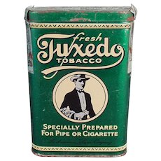 Vintage Tobacco Tin - Old Tuxedo Vertical Pocket Tin