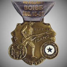 Vintage Medal with Original Ribbon - 1935 Idaho American Legion Auxiliary