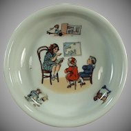 Vintage Baby Plate - Teacher and Children -  Geography Lesson - Made in Germany