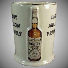 Vintage Whiskey Advertising Mug - Old Martin's Whiskey Porcelain Cup