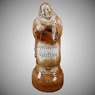 Vintage Schafer and Vater Decanter - Large Old Wind Up S & V Monk Decanter - Plays How Dry I Am - Listen to it on Facebook