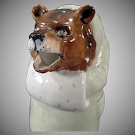 Vintage Schafer and Vater Pitcher - Brown Bear Dressed in Coat - Old S & V Pitcher