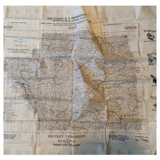 1948 Clearwater National Forest of Idaho - Exceptional Sportsman Washable Cloth Map