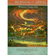 Vintage Sheet Music- The Burning of Rome - Colorful Graphics