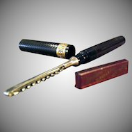 Vintage Fountain Pen Safety Razor - Old Arnold Fountain Pen Razor with Blade and Tin