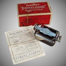 Vintage Razor Blade Stropper - Old Kanner's Dubeledge Sharpener with Original Box