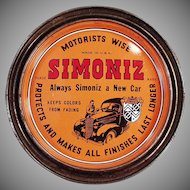 Vintage Advertising Tin - Old Simoniz Automotive and Furniture Wax Tin
