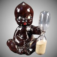 Vintage Black Memorabilia - Old Egg Timer - Black Kewpie Like Baby