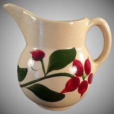 Vintage Watt Pottery - Old Watt Creamer #15 Starflower