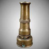 Vintage Garden Hose Nozzle – Old Brass Challenger Nozzle - Italy
