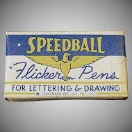 Vintage FB1 Pen Nibs - Old Speedball Flicker Pen Nibs with Original Box